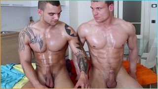 Oil Massage And Gay Anal Sex With Drago Lembeck and James